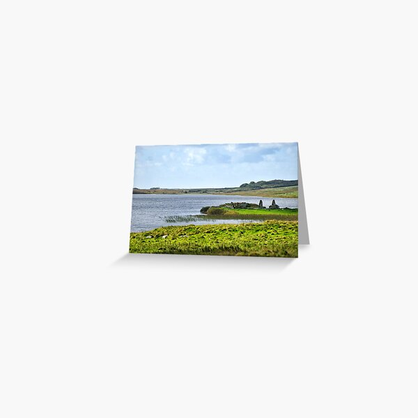 Finlaggan on the island of Eilean Mor in Loch Finlaggan Greeting Card