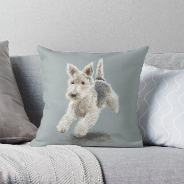 The Fox Terrier Throw Pillow