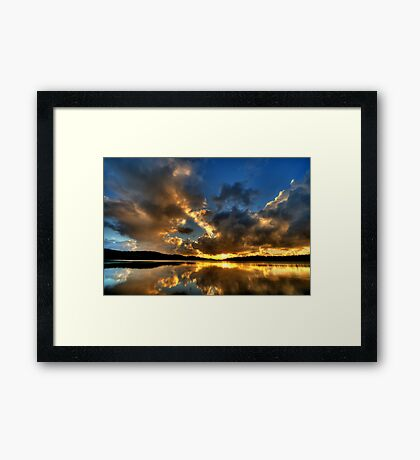Carpe Diem ! - Narrabeen Lakes,Sydney - The HDR Experience Framed Print
