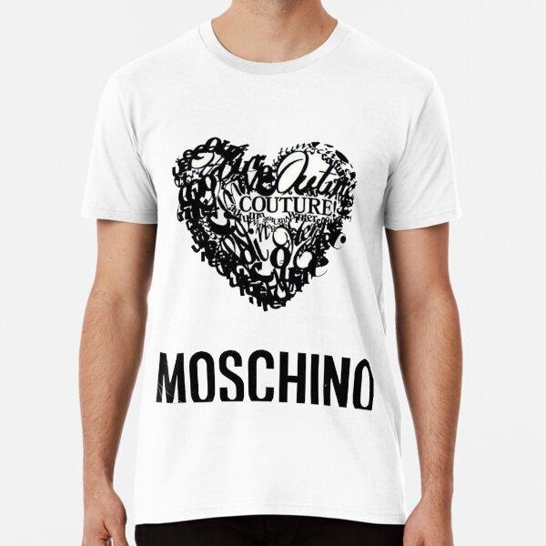 logotipo de moschino Camiseta premium