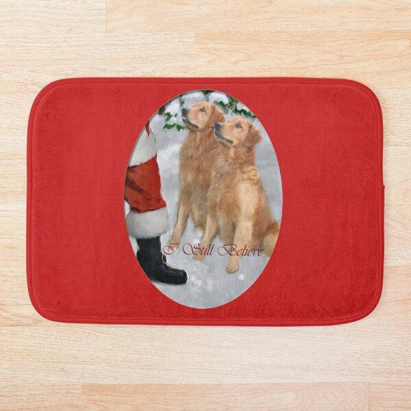 Golden Retriever Christmas Gifts Bath Mat