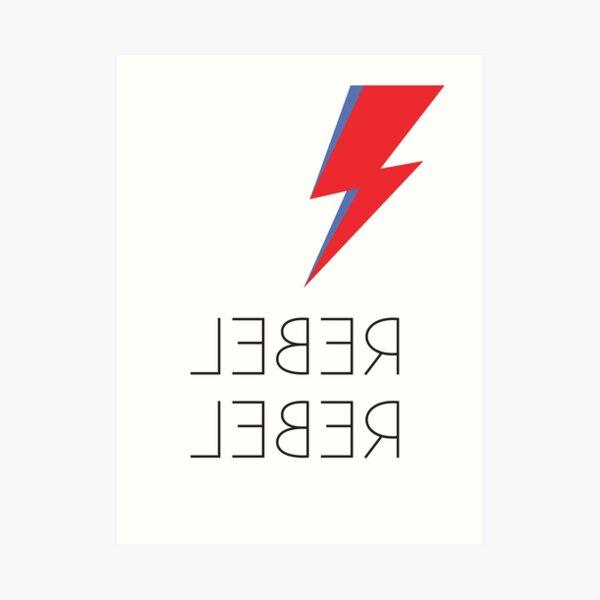 David Bowie Rebel Rebel Aladdin Sane Bolt Glam Rock  Art Print