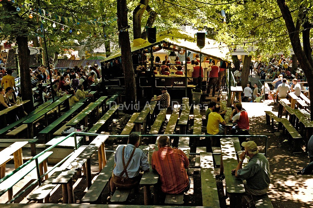 Lunchtime at the Bergkirchweih, Erlangen, Germany. by David A. L. Davies