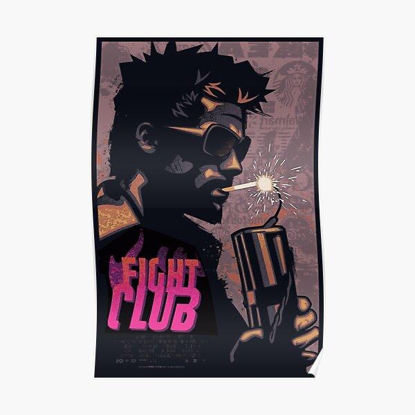 Fight Club Tyler Durden Smoking a Dynamite Poster
