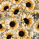 Dreamy Autumn Sunflowers by micklyn