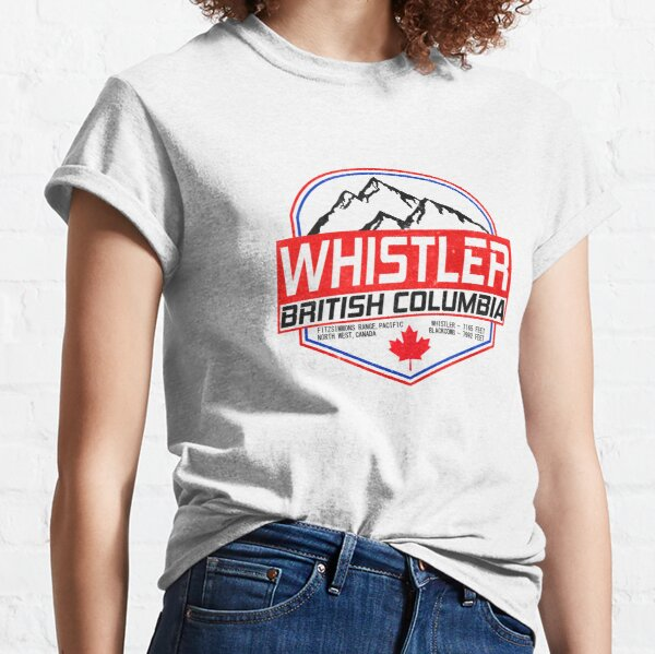 Retro Ski Whistler B.C Canada Skiing and Mountain Biking Paradise Classic T-Shirt