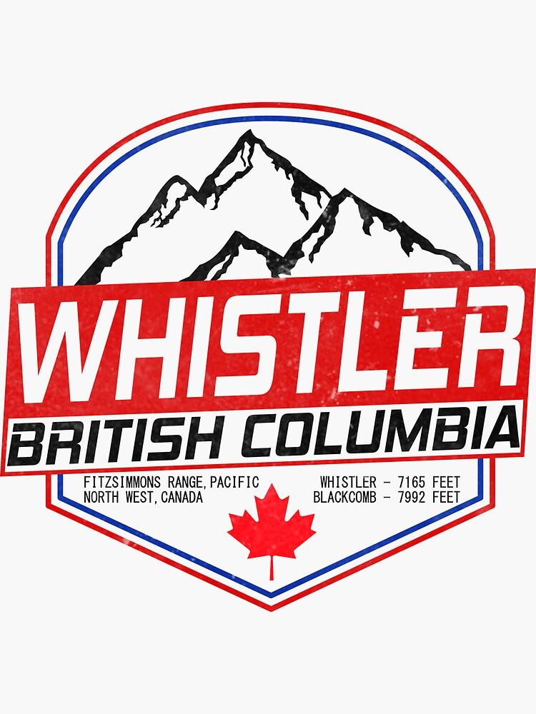 Retro Ski Whistler B.C Canada Skiing and Mountain Biking Paradise by chriswilson111