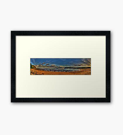 Avalon Panorama - Avalon Beach, Sydney (65 Exposure HDR) The HDR Experience Framed Print