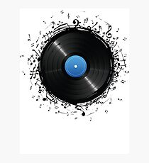 33 Vinyl Record Music Notes Photographic Print