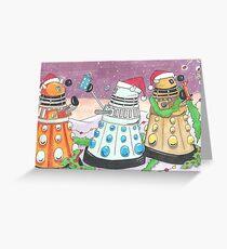 Dalek xmas card Greeting Card