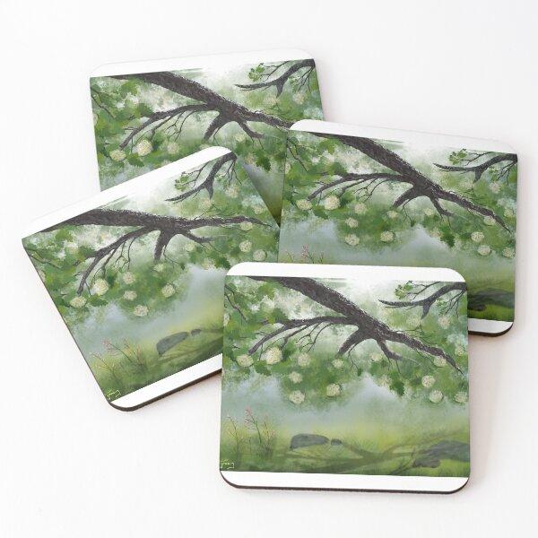 Hydrangea Shade Coasters (Set of 4)