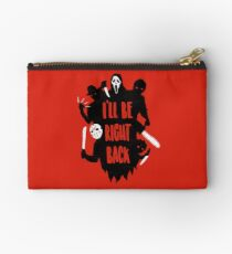 I'll Be Right Back Zipper Pouch