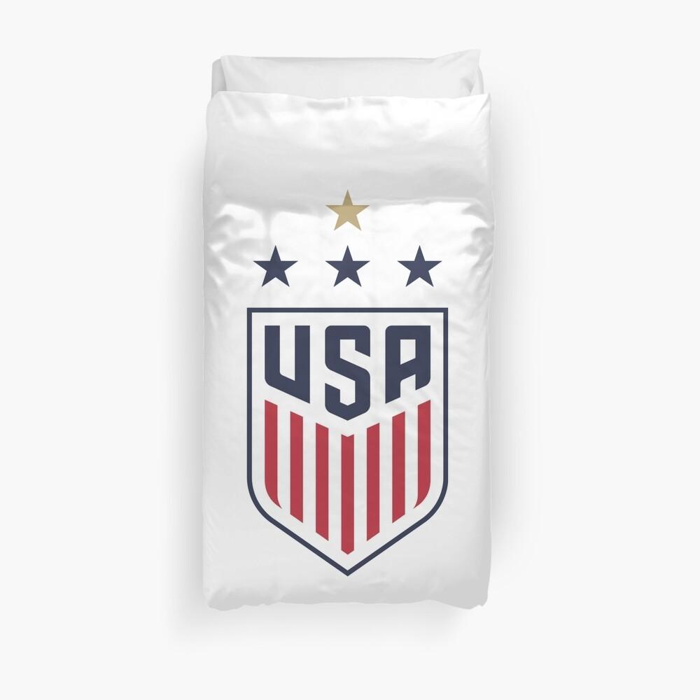 USWNT US Womens National Soccer Team Duvet Cover