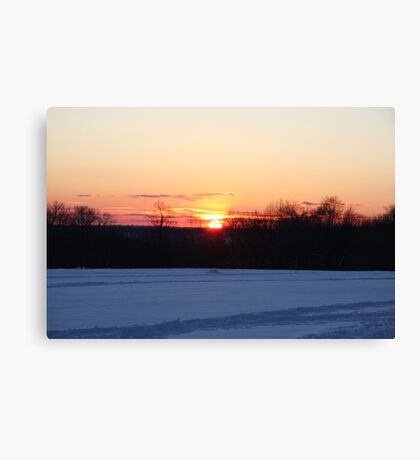 A Winter Sky Sunset Canvas Print