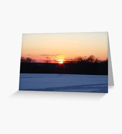 A Winter Sky Sunset Greeting Card