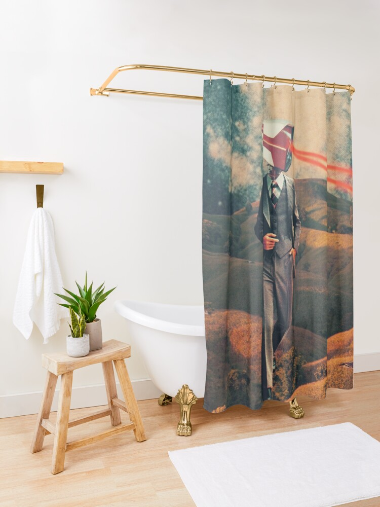 Alternate view of We are Watching You for Your Own Safety  Shower Curtain