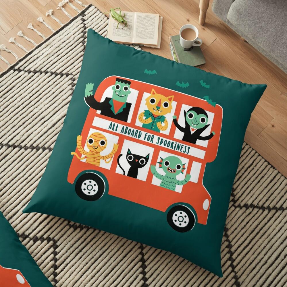 Spooky Bus Floor Pillow