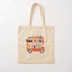 Spooky Bus Cotton Tote Bag