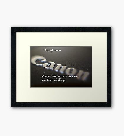 a love of canon Framed Print