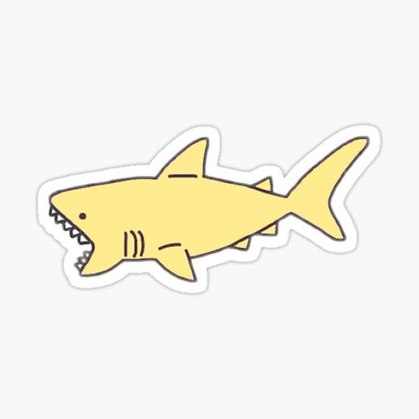 Monster Shark In The Lake Roblox Sharkbite Youtube Yellow Shark Stickers Redbubble