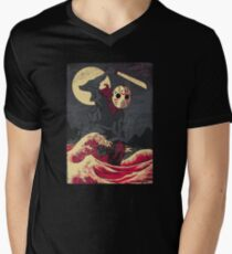 Crystal Lake Demon V-Neck T-Shirt