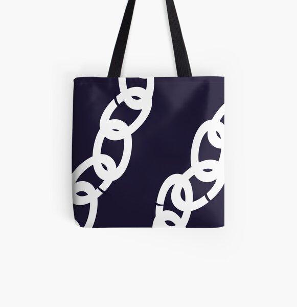 Nautical Chains All Over Print Tote Bag