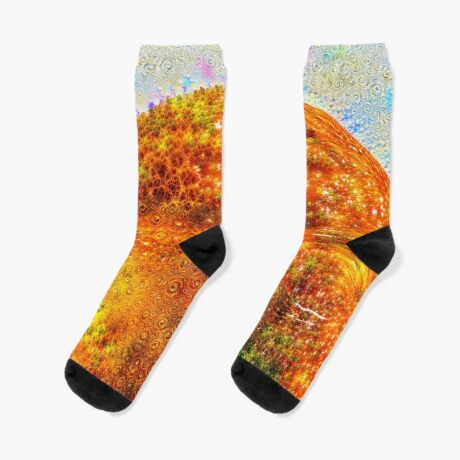 #DeepDreamed Frozen Orange Socks