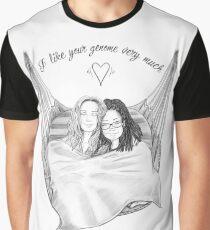 Camiseta gráfica Orphan Black - Me gusta mucho tu genoma (versión de cita)
