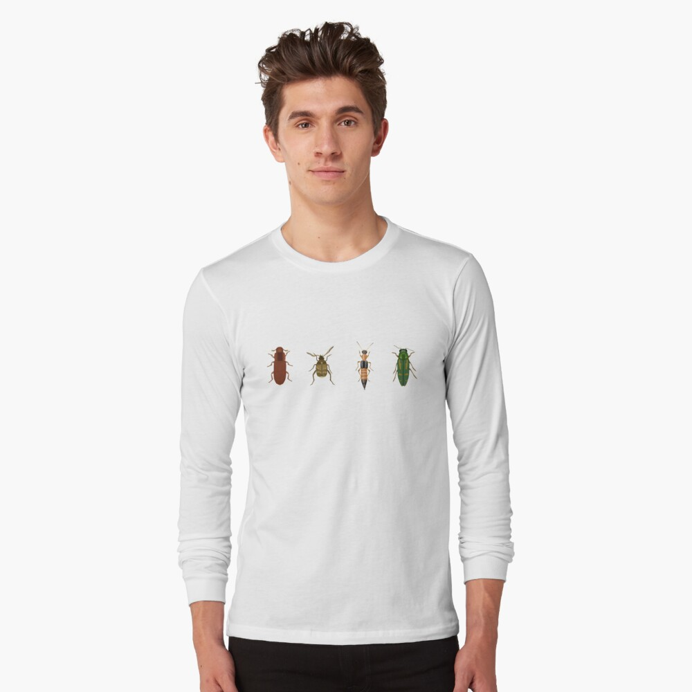 Four Beetles Long Sleeve T-Shirt