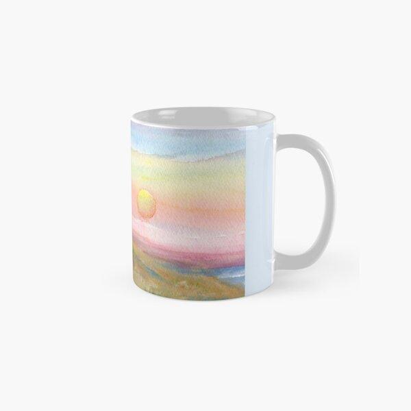 Best Friends, original watercolor painting by Pamela Parsons. Childhood, little boy, little girl, sunset, beach, ocean Classic Mug