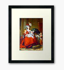 Marie Antoinette & Children Framed Print