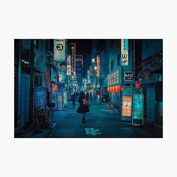 Light Up the Sky- Japan Night Photo Photographic Print