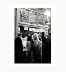 The Borek Shop - Melbourne Art Print
