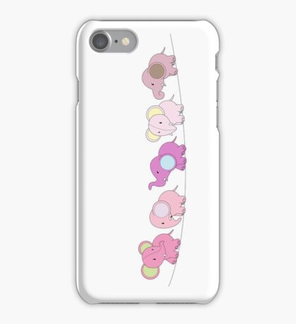 5 Pink Elephants iPhone Case/Skin