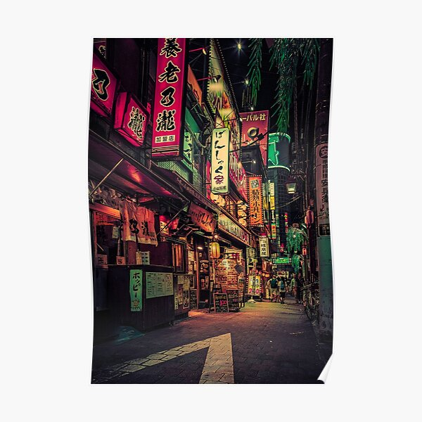 Neo Tokyo II-Japan Nacht Foto Poster