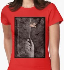 Labor Day For The Middle Class. Womens Fitted T-Shirt