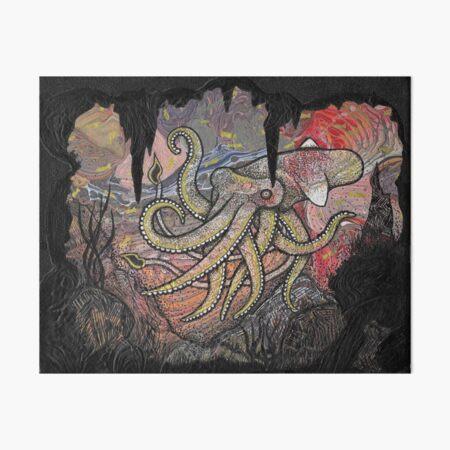 Squid Art Board Print