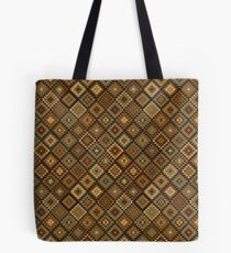 Aztec Inspired Gold and Black Pattern Tote Bag