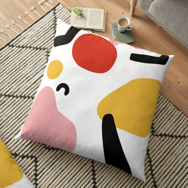 abstract shapes nordic art Floor Pillow