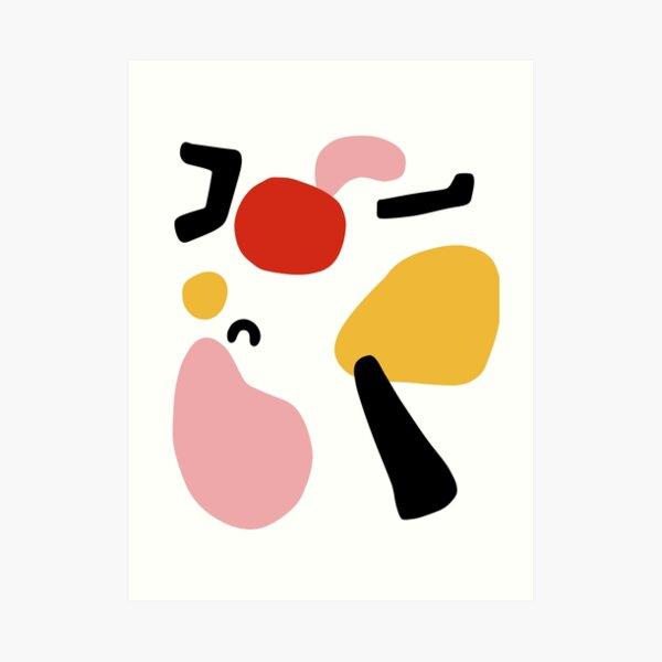abstract shapes nordic art Art Print