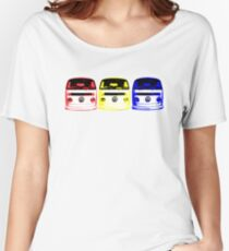 VW Kombi - Red Yellow Blue Women's Relaxed Fit T-Shirt