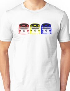 VW Kombi - Red Yellow Blue Unisex T-Shirt