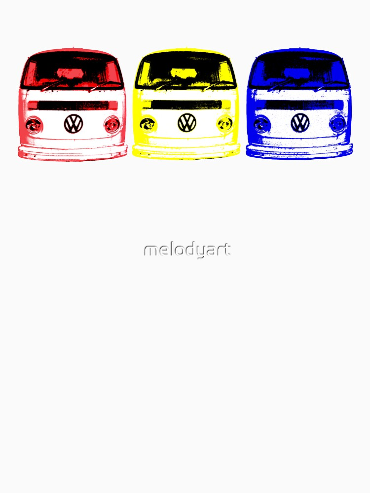 VW Kombi - Red Yellow Blue | Unisex T-Shirt
