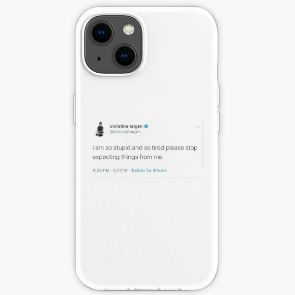 chrissy teigen tweet iPhone Soft Case