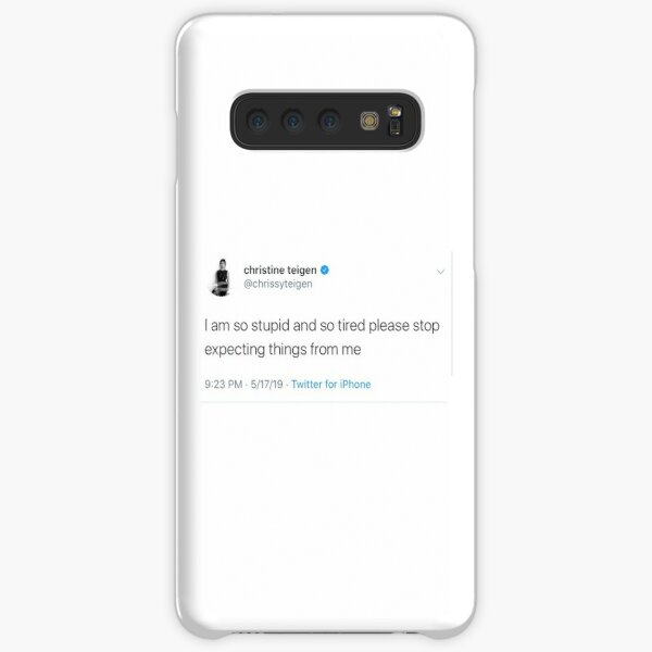 chrissy teigen tweet Samsung Galaxy Snap Case