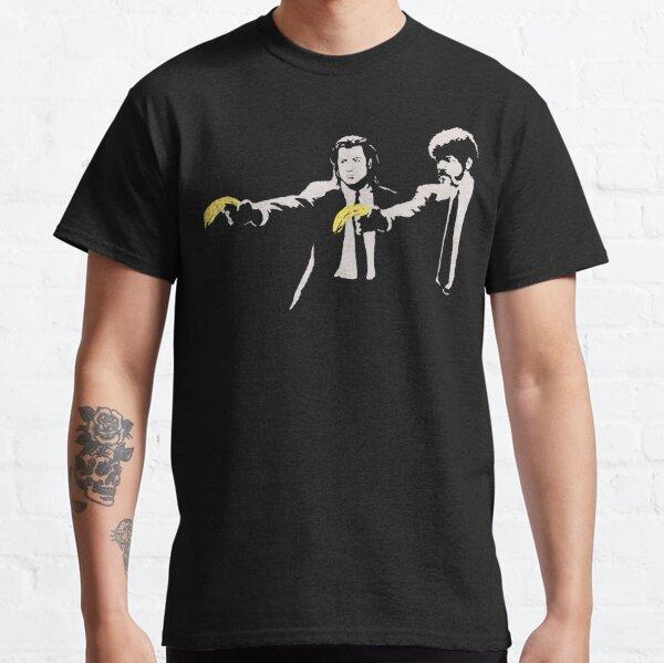 Banksy, Homage To AWarhol, Banana And Quentin Tarantino, Artwork Reproduction, Posters, Prints, Bags, Mugs, Postcards, Tshirts, Men, Women, Kids Classic T-Shirt