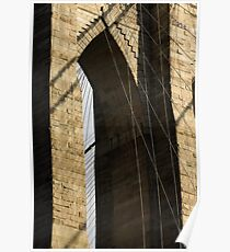 Brooklyn Bridge Cathedral Arch Poster