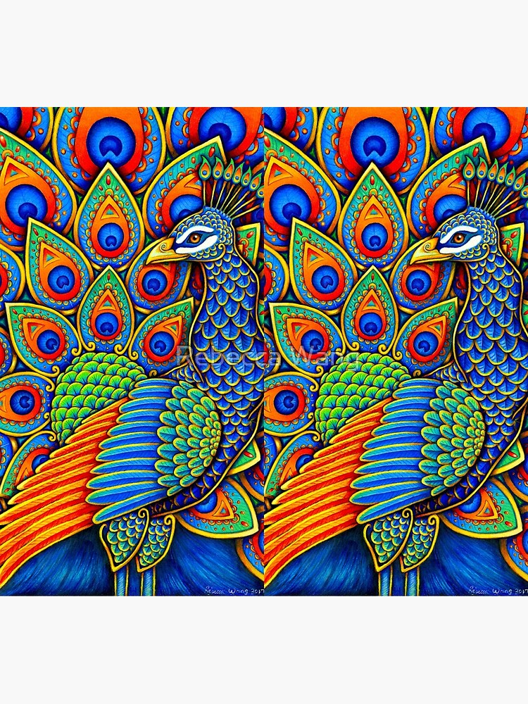 Colorful Paisley Peacock Rainbow Bird by lioncrusher