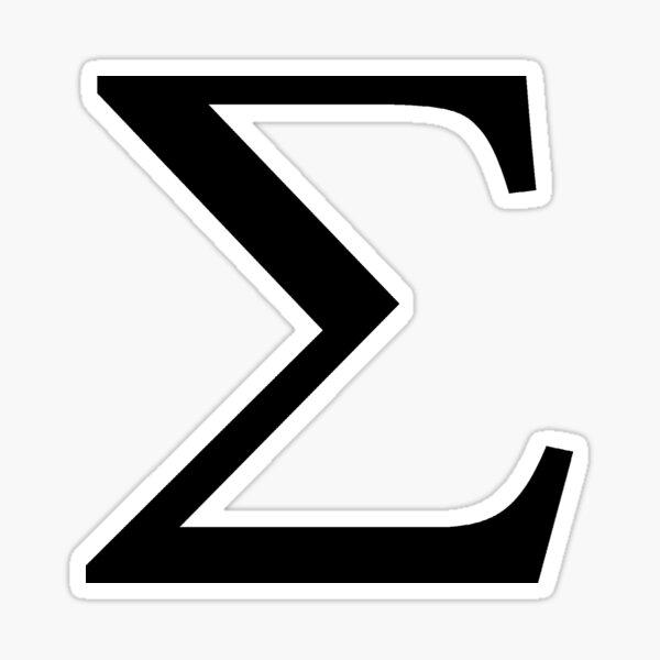 Sigma Greek Letter Sticker