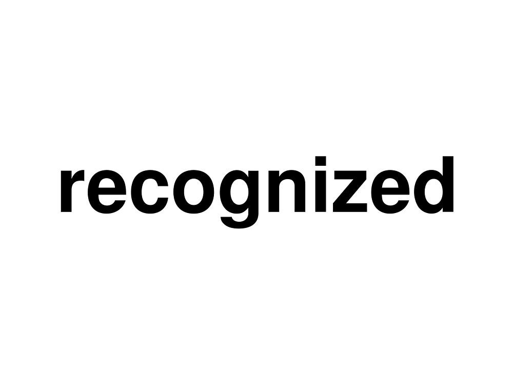 recognized by ninov94